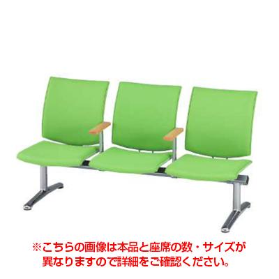 LPシリーズ ロビーチェア 2人用 中肘付き 布張り / LP-2A