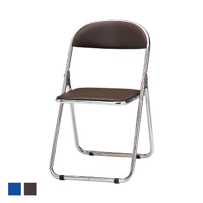 CFシリーズ 折りたたみチェア パイプ椅子 スチール脚メッキタイプ ウレタンレザーチェア 座面高さ435mm