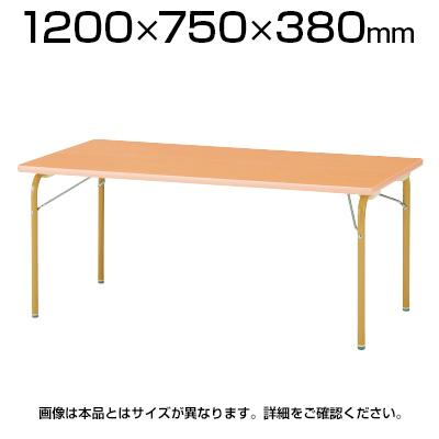 JRM/JRKシリーズ キッズテーブル 角型 木製 幅1200×奥行750×高さ380mm / JRK-1275L