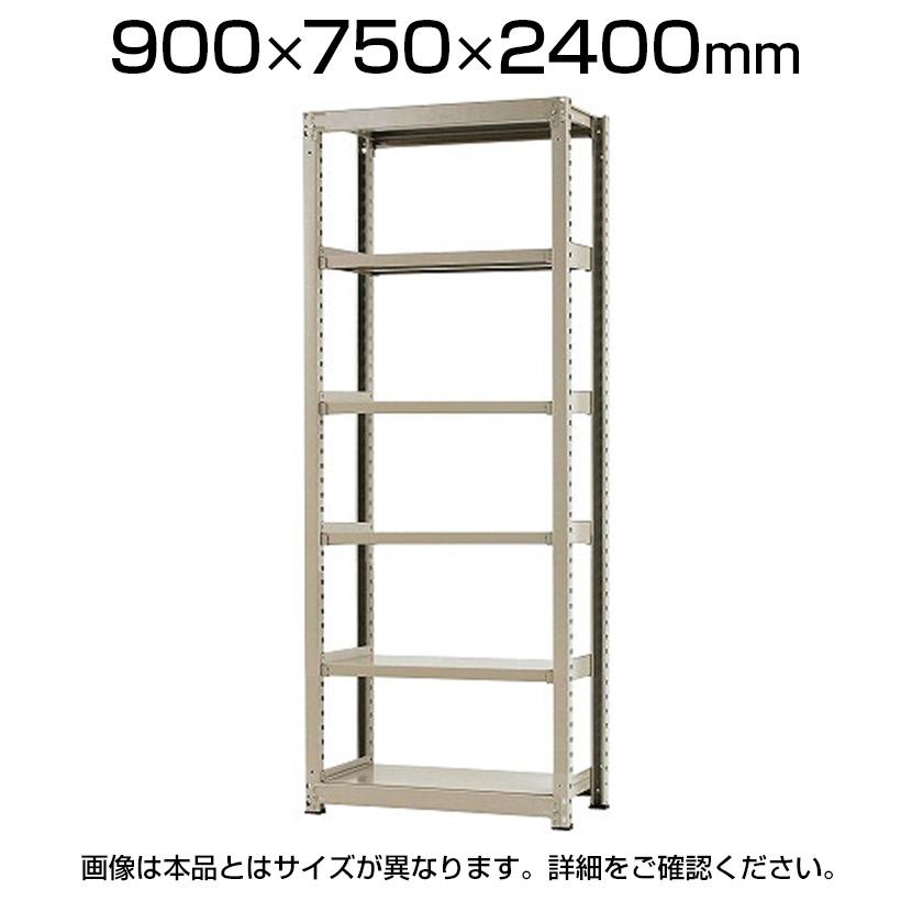 【本体】スチールラック 中量 500kg-単体 6段/幅900×奥行750×高さ2400mm/KT-KRL-097524-S6