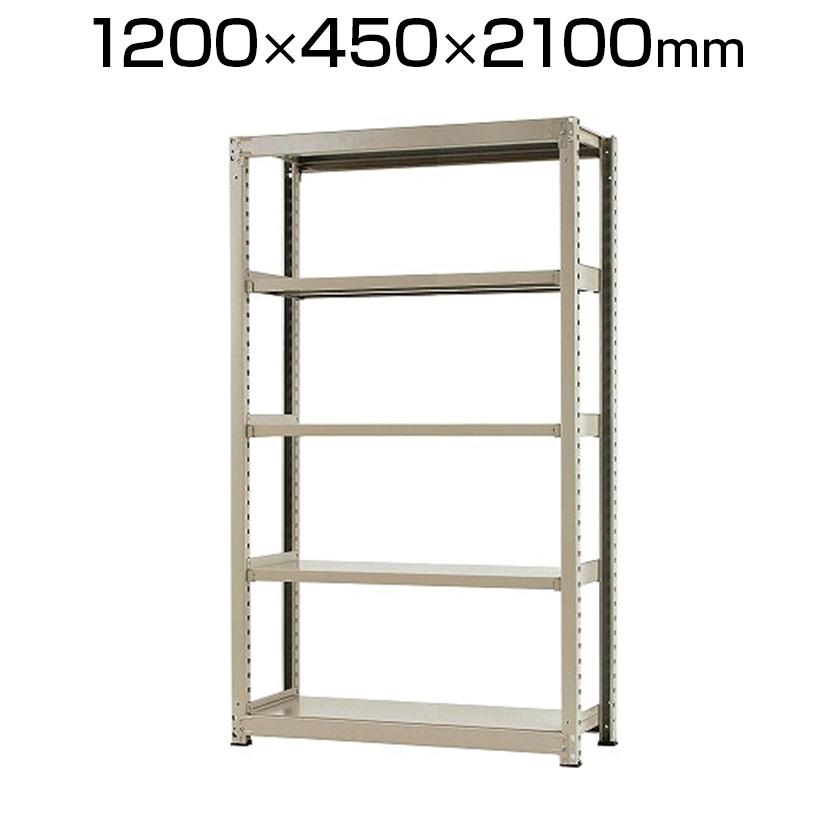 【本体】スチールラック 中量 500kg-単体 5段/幅1200×奥行450×高さ2100mm/KT-KRL-124521-S5