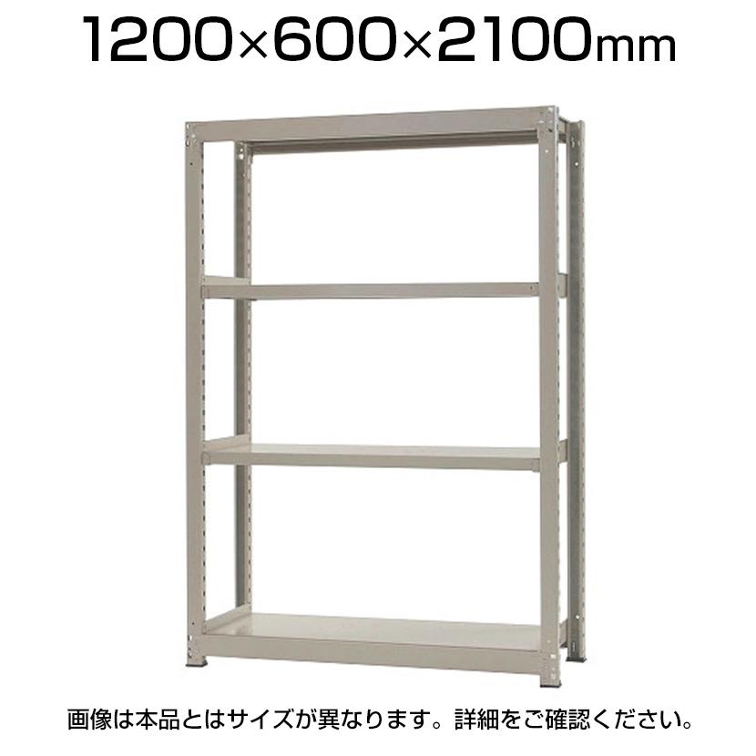 【本体】スチールラック 中量 500kg-単体 4段/幅1200×奥行600×高さ2100mm/KT-KRL-126021-S4
