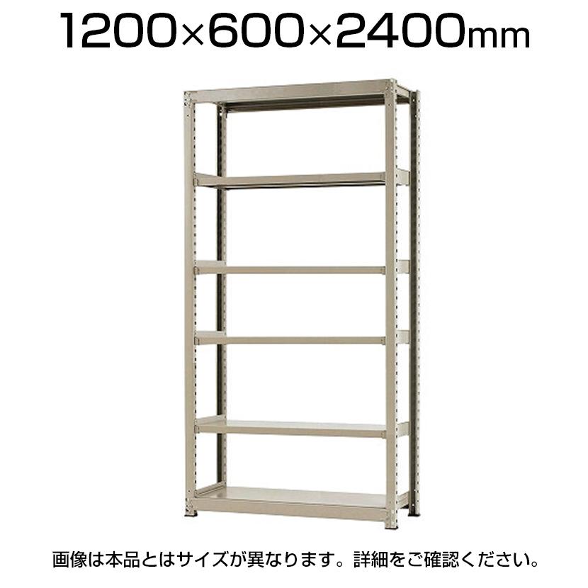 【本体】スチールラック 中量 500kg-単体 6段/幅1200×奥行600×高さ2400mm/KT-KRL-126024-S6