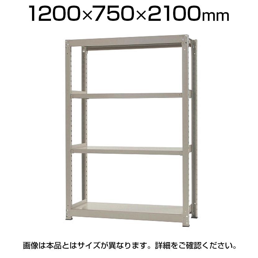 【本体】スチールラック 中量 500kg-単体 4段/幅1200×奥行750×高さ2100mm/KT-KRL-127521-S4
