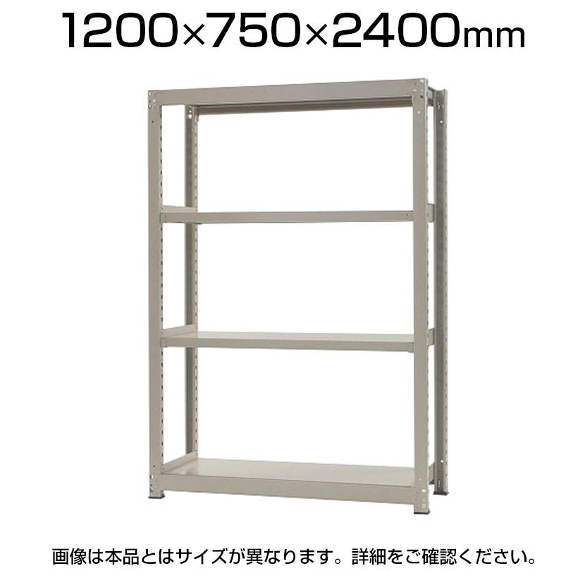 【本体】スチールラック 中量 500kg-単体 4段/幅1200×奥行750×高さ2400mm/KT-KRL-127524-S4
