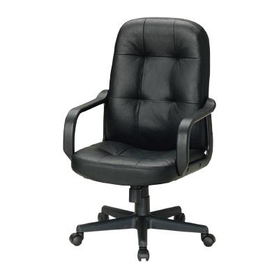 【新品】【激安】本革張りチェア/FEV-100 事務椅子 オフィスチェアー 事務いす