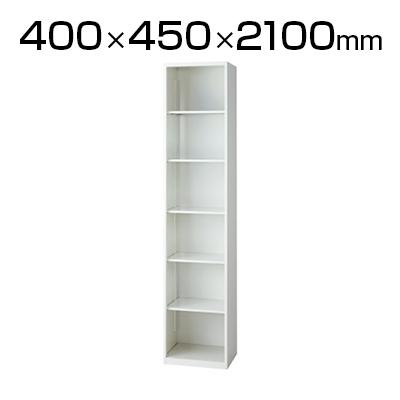 L6 オープン保管庫 L6-E210EC W4 ホワイト 幅400×奥行450×高さ2100mm