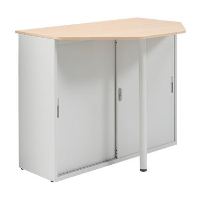 プラス スチールハイカウンター テーブル天板付 幅1250×奥行900×高さ1000mm