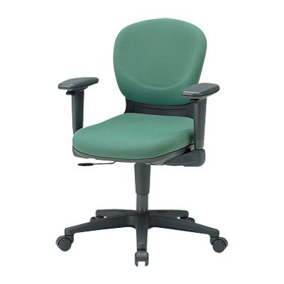 【日本製】 オフィスチェア 可動肘付き 事務椅子 リクライニングチェア マット交換可 布張り パソコンチェア デスクチェア OAチェア 学習イス 学習チェア 学習椅子 いす イス 椅子 国産 (ブルー以外受注生産)