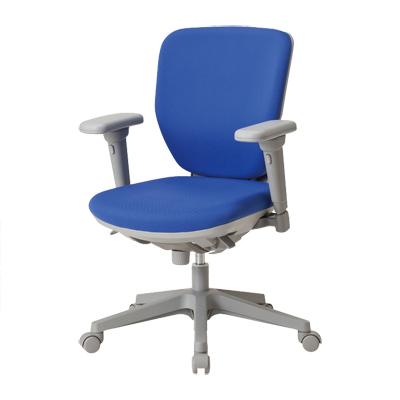 【日本製】 ローバック オフィスチェア 可動肘付き フリーシンクロロッキング マット交換可 布張り パソコンチェア デスクチェア OAチェア 学習イス 学習チェア 学習椅子 いす イス 椅子 国産
