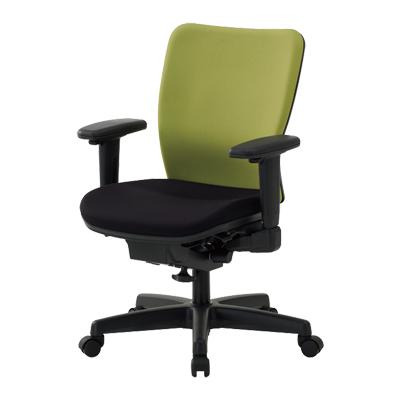 【日本製】 オフィスチェア 可動肘付き 事務椅子 シンクロロッキングチェア マット交換可 布張り パソコンチェア デスクチェア OAチェア 学習イス 学習チェア 学習椅子 いす イス 椅子 国産 ウォントチェア (レッド・オレンジ・ライトグリーン:受注生産)