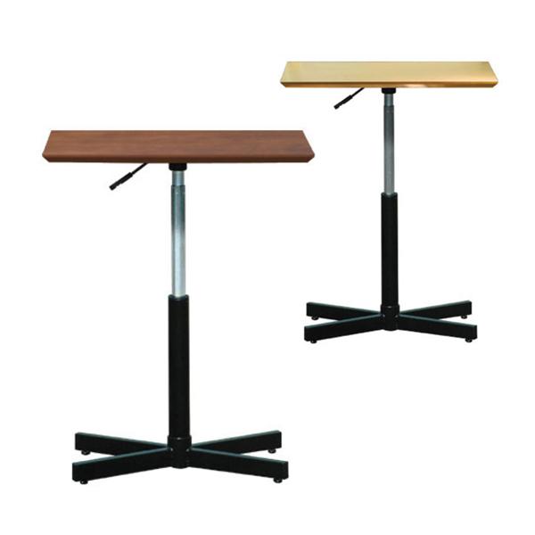 ブランチ ヘキサテーブル 幅600×奥行450×高さ515-770mm 高さ調節 カフェテーブル ガス圧式天板昇降 日本製