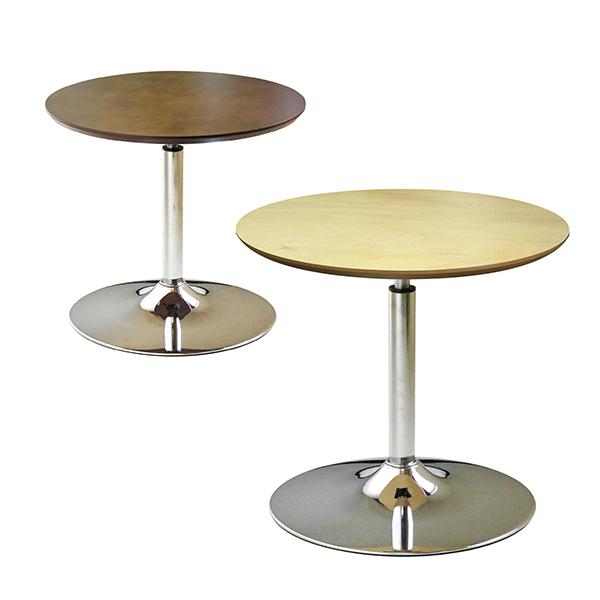 コーンリフトテーブル 幅600×奥行600×高さ536-796mm 高さ調節 カフェテーブル 回転式天板昇降 日本製
