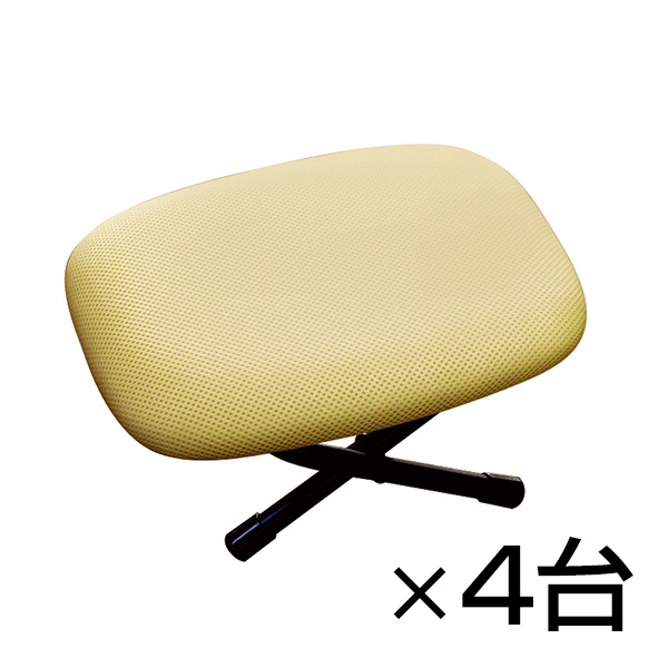 【まとめ買い】ローチェアー ローザ 4台セット 枕(2段階)&正座椅子 立体構造メッシュ 通気性 折りたたみ可能 完成品 日本製
