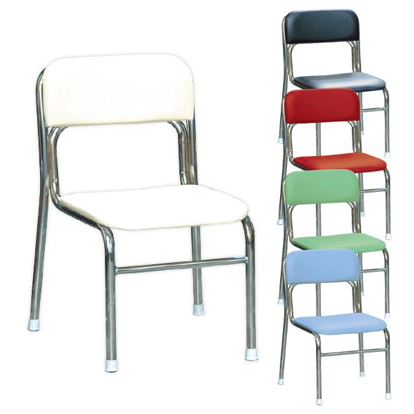 リブラチェアー 座面高340mm 待合椅子 クロムメッキ仕様 完成品 日本製