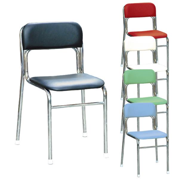 リブラチェアー 座面高420mm 待合椅子 クロムメッキ仕様 完成品 日本製