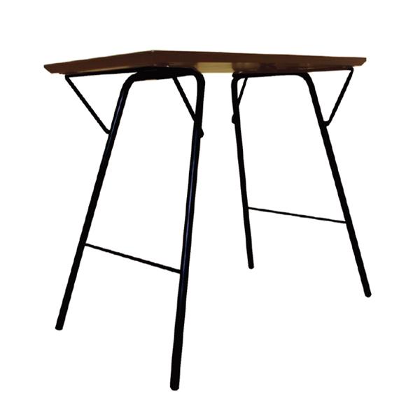 トラス バレルテーブル 幅750×奥行500×高さ680mm スマート収納 薄型折りたたみ式 完成品 日本製
