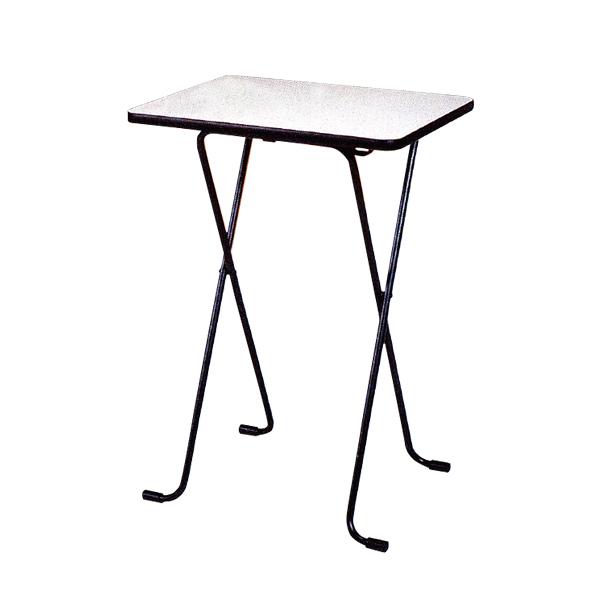 ハイテーブル 幅600×奥行450×高さ850mm スマート収納 薄型折りたたみ式 耐薬品性・耐熱性 完成品 日本製