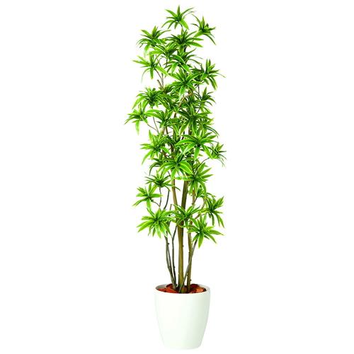送料無料【ソング・オブ・インディア FST RP鉢タイプ】W60cm×H180cmフェイクグリーン 人工観葉植物 インテリアグリーン オフィスグリーン 人工樹木 造花ドラセナ