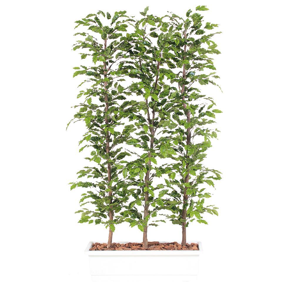 送料無料 代引不可【ベンジャミナ スプラッシュ パーテーション】W100cm×D50cm×H180cmフェイクグリーン 人工観葉植物 インテリアグリーン オフィスグリーン 人工樹木 造花ベンジャミナ