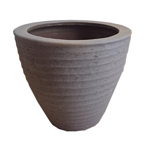送料無料【器 PF-30 Lサイズ】(ブラック:BK)適応鉢:懸崖10号鉢カバー