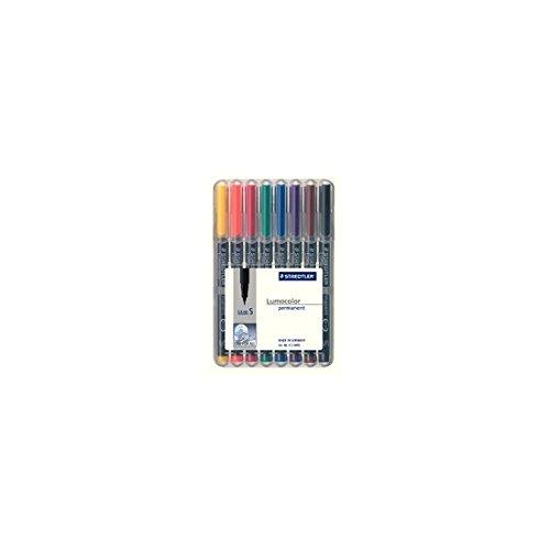 ステッドラー 油性ペン ルモカラー 313 WP8 超極細書き 8色(10セット)