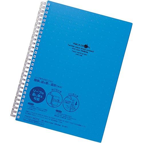 LIHIT LAB扭摆笔记本准B5 29洞孔叶70张蓝N1611-8