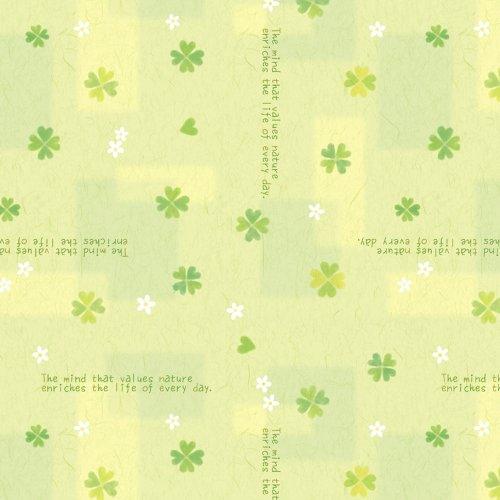 タカ印 包装紙 49-1514 ハッピークローバー 半才判 50枚入(5セット)