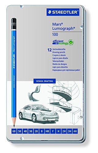 High-quality pencil 100G12 12 hardness 特価品コーナー☆ set for the ステッドラー 製図用高級鉛筆 12硬度セット drafting 4007817104729 ルモグラフ ステッドラールモグラフ ショッピング