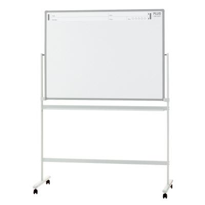 PLUS(プラス)オフィス家具 パシャボ 脚付ホワイトボード スチール〈脚付〉片面タイプ W(幅)1280 D(奥行き)610 H(高さ)1800