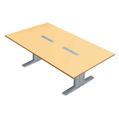 PLUS(プラス)会議テーブル/会議用大型テーブル/XF TYPE-L・XF TYPE-L 会議テーブル XL-2412KG WM/M4