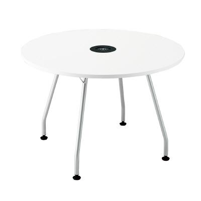 PLUS(プラス)オフィス家具 Light perch ワイヤレス充電テーブル 天板サークルタイプ W(幅)1400 D(奥行き)1400 H(高さ)955