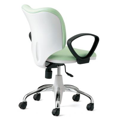 PLUS(プラス)オフィス家具 Prop ブライトタイプ(本体色・ホワイト) ループ肘付 標準仕様ナイロンキャスター W(幅)586 D(奥行き)576 H(高さ)