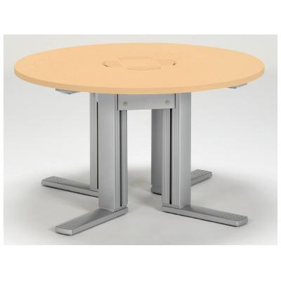PLUS(プラス)オフィス家具 XF TYPE-L サークルテーブル W(幅)1250 D(奥行き)1250 H(高さ)720