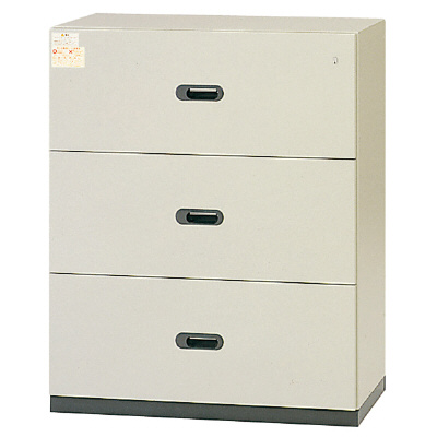 PLUS(プラス)オフィス家具 LX-5 耐火ラテラルファイリングキャビネット 3段タイプ D450 W(幅)900 D(奥行き)450 H(高さ)1100