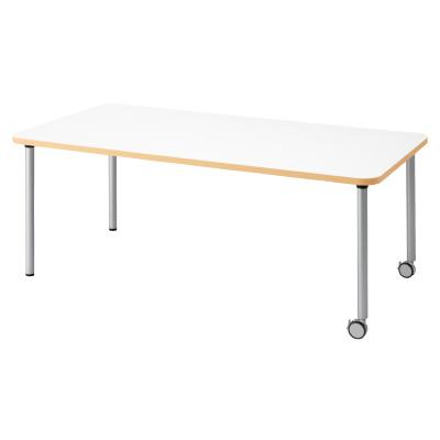 PLUS(プラス)オフィス家具 E5シリーズ テーブル 長方形 片キャスター脚タイプ(H700・640・580) W(幅)1800 D(奥行き)900 H(高さ)700