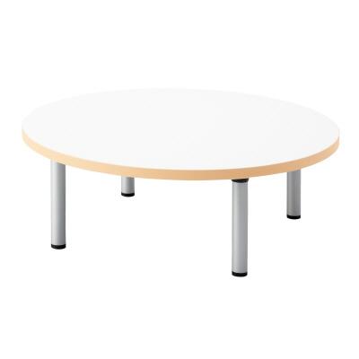 PLUS(プラス)オフィス家具 E5シリーズ テーブル 円形 アジャスター脚タイプ(H320) W(幅)900 D(奥行き)900 H(高さ)320