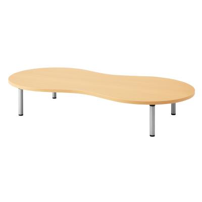 PLUS(プラス)オフィス家具 E5シリーズ テーブル ピーナッツ形 アジャスター脚タイプ(H320) W(幅)1800 D(奥行き)900 H(高さ)320