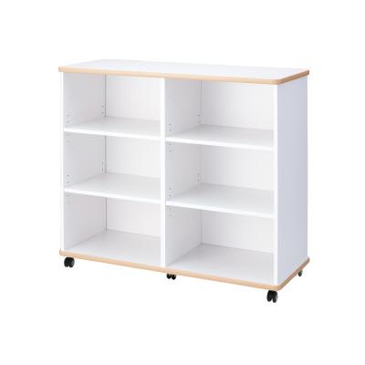 PLUS(プラス)オフィス家具 E5シリーズ 収納 多目的収納(2×3棚) W(幅)1200 D(奥行き)480 H(高さ)1050