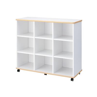 PLUS(プラス)オフィス家具 E5シリーズ 収納 多目的収納(3×3棚) W(幅)1200 D(奥行き)480 H(高さ)1050
