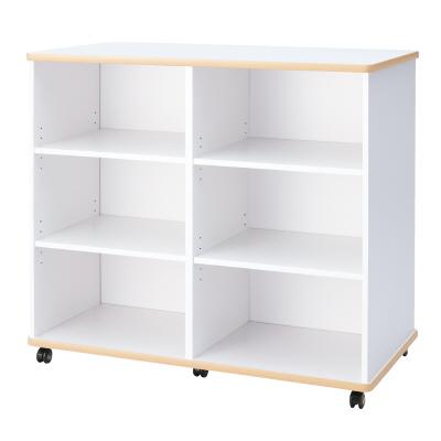PLUS(プラス)オフィス家具 E5シリーズ 収納 多目的収納(2×3棚) W(幅)1200 D(奥行き)620 H(高さ)1050