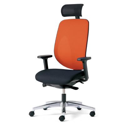 PLUS(プラス)オフィス家具 giroflex 353 ハンガーなし ヘッドレスト肘付 アルミ脚 W(幅) D(奥行き)642 H(高さ)