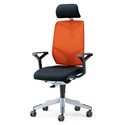 PLUS(プラス)オフィス家具 giroflex68 ヘッドレスト付タイプ 布張り W(幅)675 D(奥行き) H(高さ)