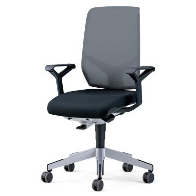 PLUS(プラス)オフィス家具 giroflex68 ヘッドレストなしタイプ 布張り W(幅)675 D(奥行き) H(高さ)