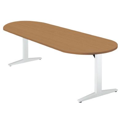 PLUS(プラス)オフィス家具 STAGEO テーブル(ボート長円形) W(幅)2100 D(奥行き)900 H(高さ)720