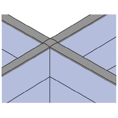 PLUS(プラス)オフィス家具 LFパネル 高さ同位置用連結部材 D60十字用4方向 W(幅) D(奥行き)60 H(高さ)1025