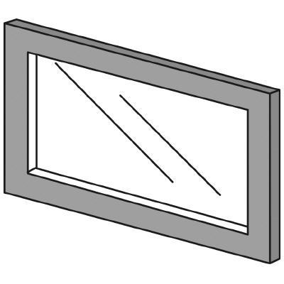 PLUS(プラス)オフィス家具 LFパネル ガラスパネル(透明)D10 H300 W(幅)450 D(奥行き)10 H(高さ)300