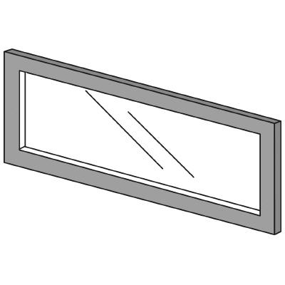 PLUS(プラス)オフィス家具 LFパネル ガラスパネル(透明)D10 H300 W(幅)700 D(奥行き)10 H(高さ)300