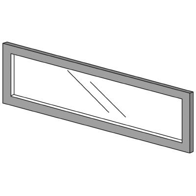 PLUS(プラス)オフィス家具 LFパネル ガラスパネル(透明)D10 H300 W(幅)900 D(奥行き)10 H(高さ)300