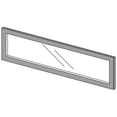 PLUS(プラス)オフィス家具 LFパネル ガラスパネル(透明)D10 H300 W(幅)1000 D(奥行き)10 H(高さ)300